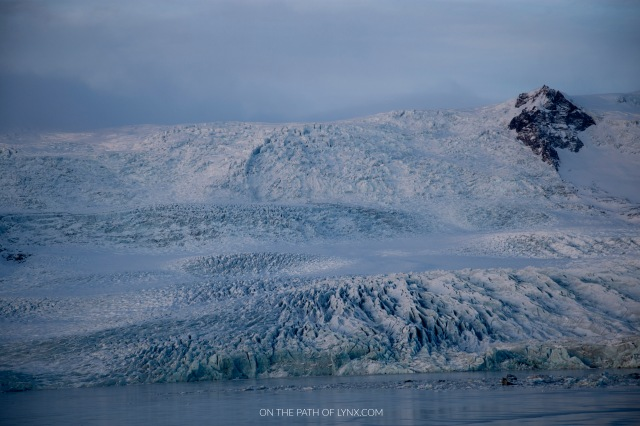 glacier lagoon iceland on the path of lynx