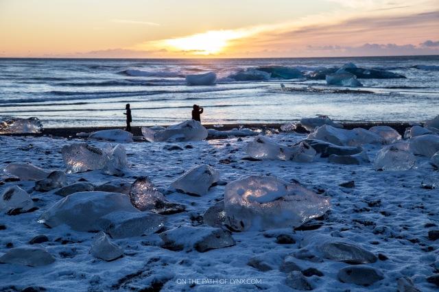 iceland diamond beach on the path of lynx
