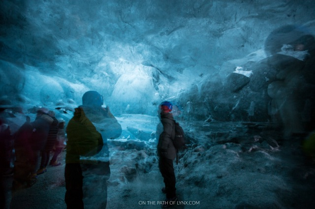 Iceland vatnajokull glacier on the path of lynx ice cave